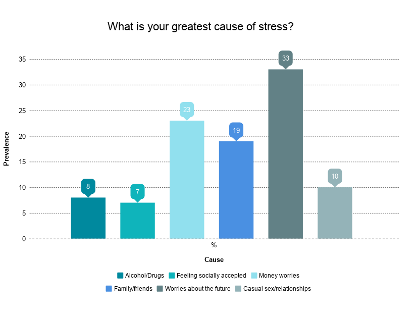 Bar Chart: What Is Your Greatest Cause Of Stress?