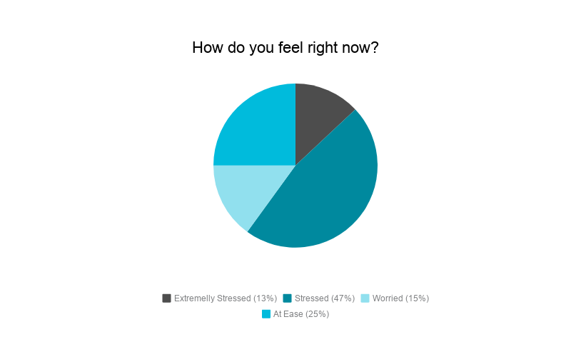 Pie Chart: How Do You Feel Right Now?