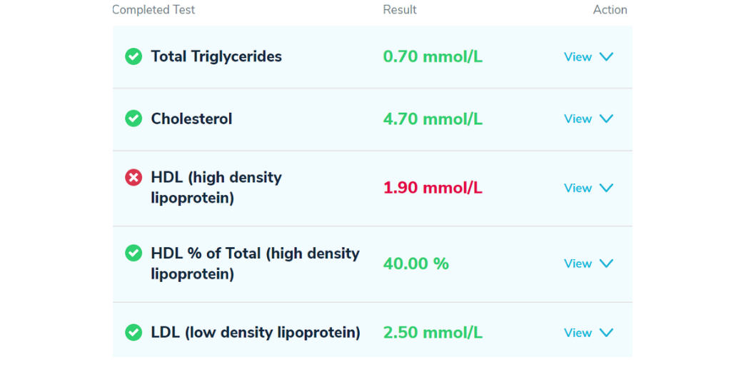 Cholesterol-Test-Results
