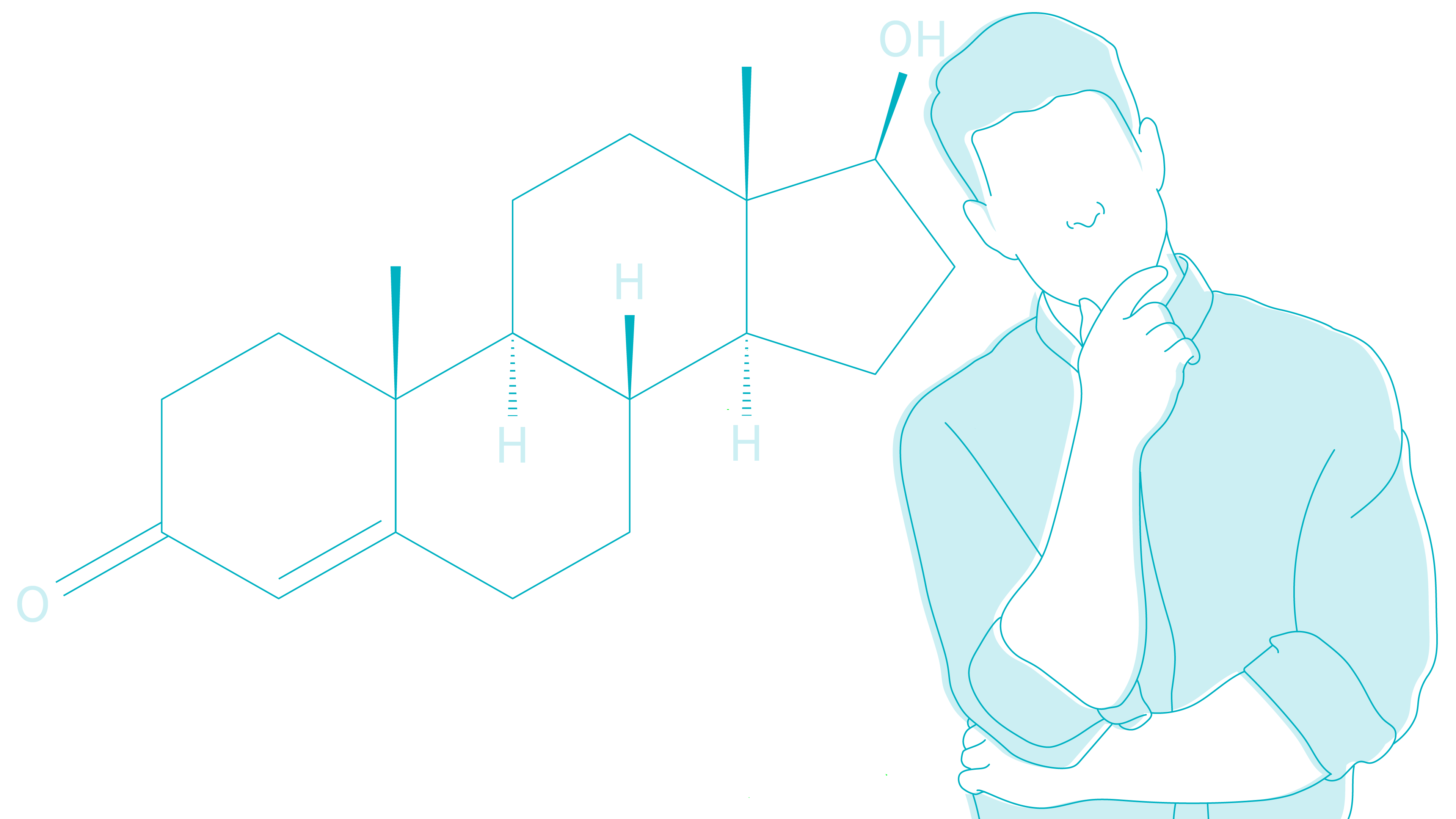 man-confused-by-testosterone-molecule-letsgetchecked-illustration