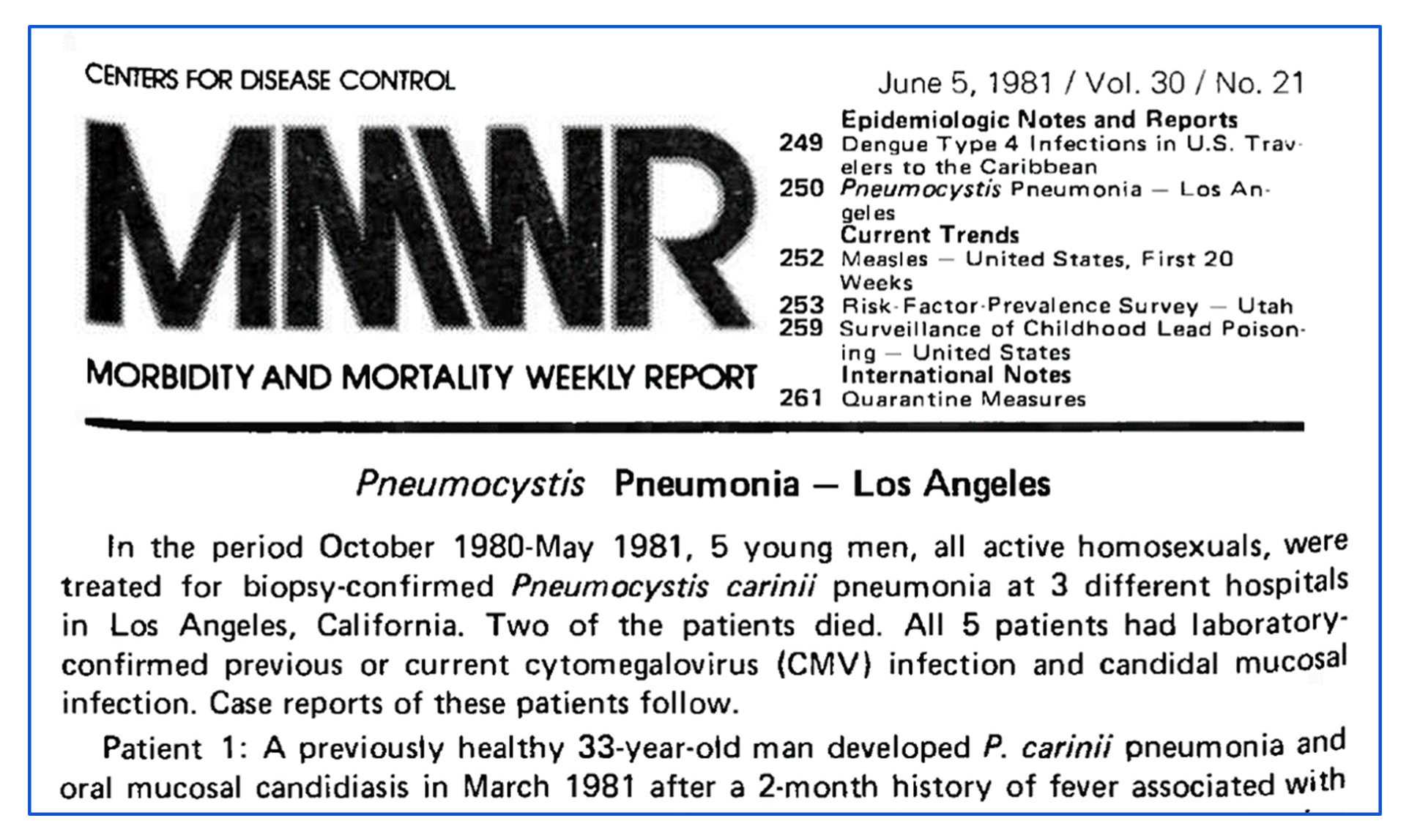 First-AIDS-Epidemic-newspaper-article-from-CDC-1981