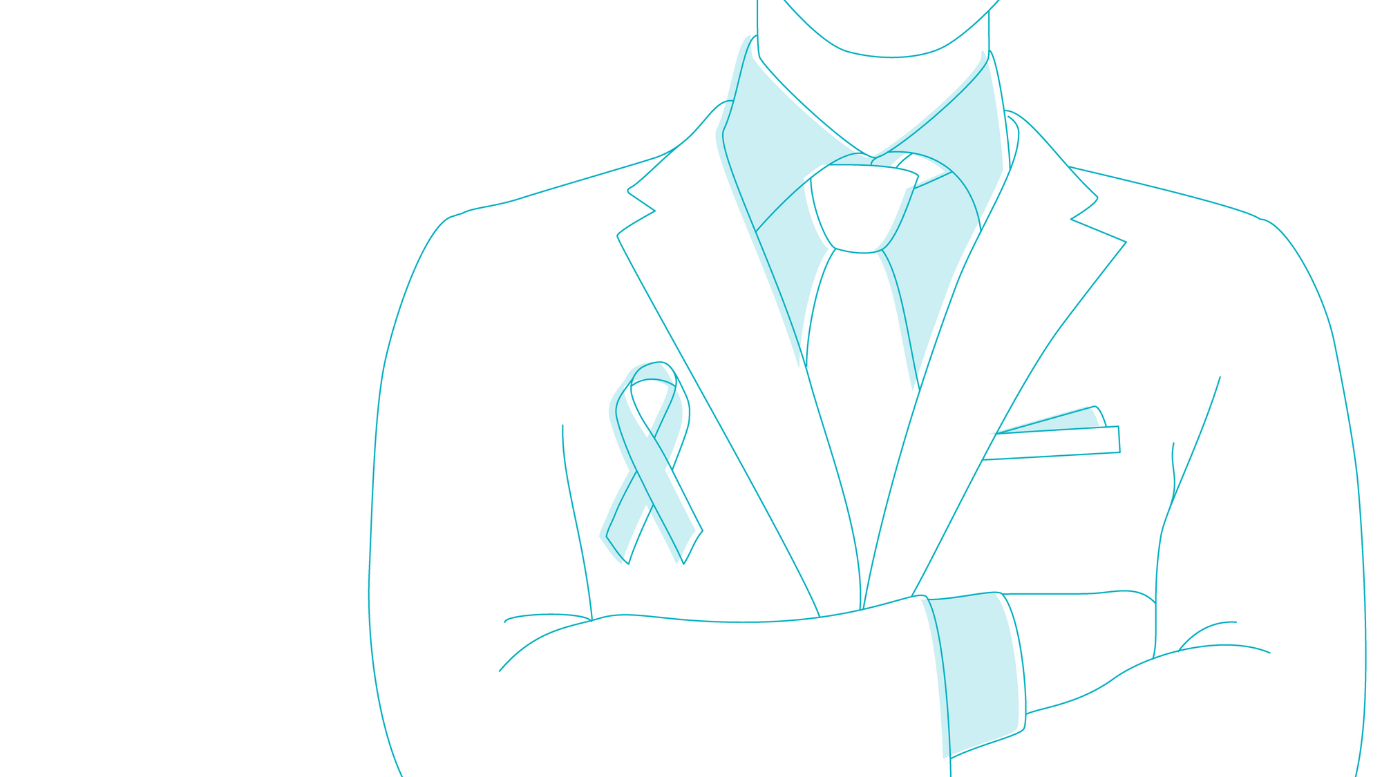 tie and cancer awareness ribbon