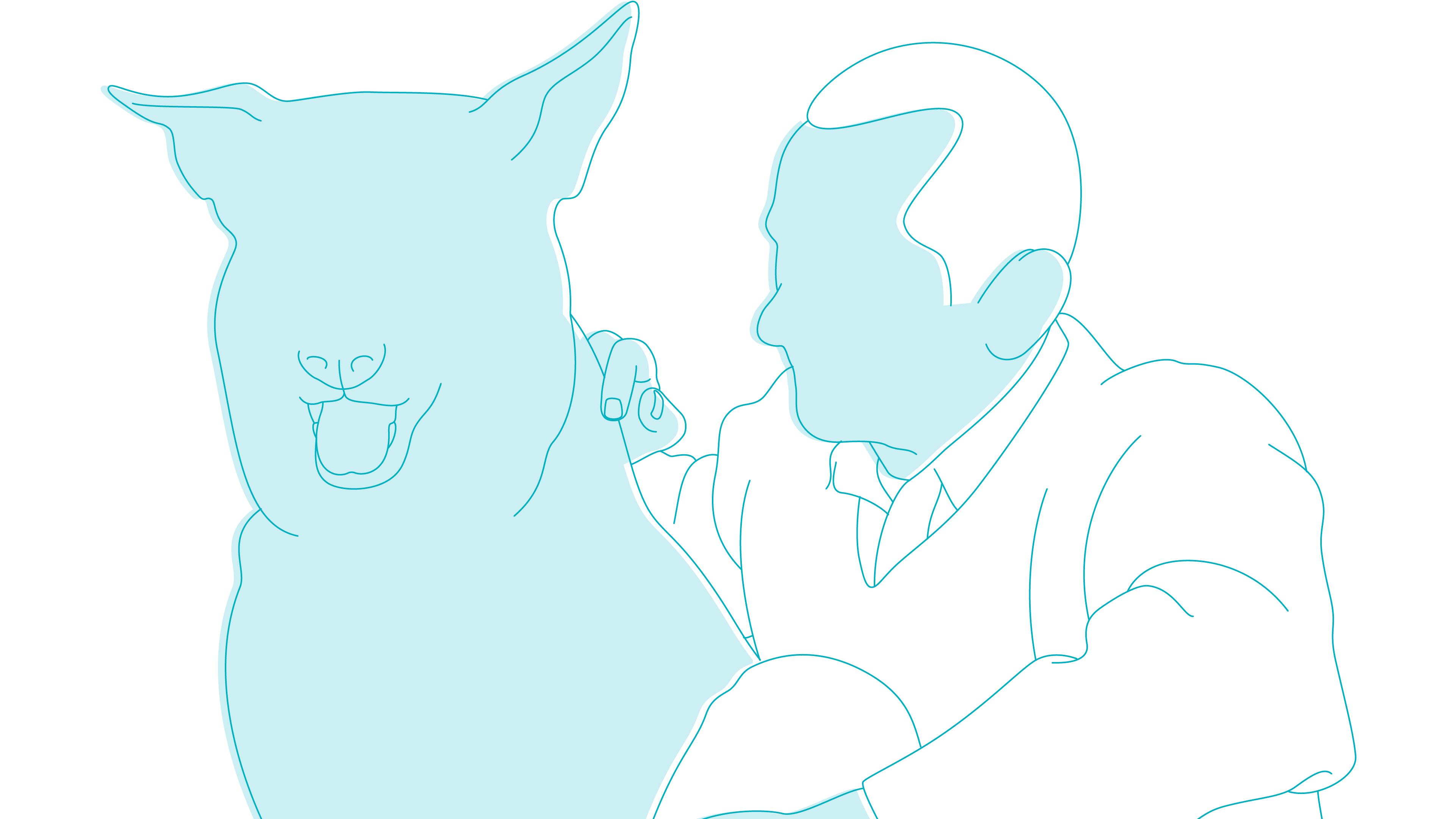 older man dog