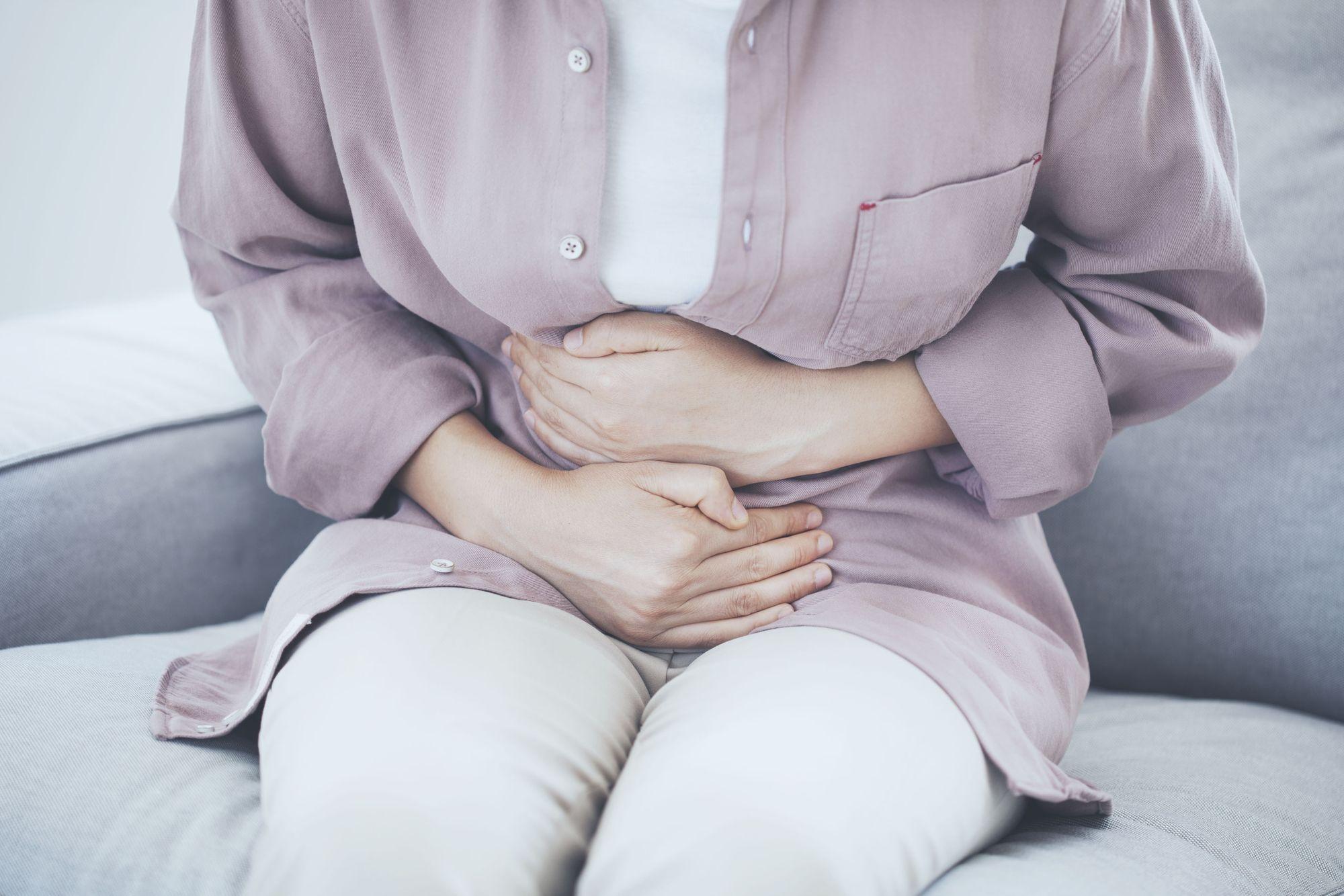 Stomach pain woman