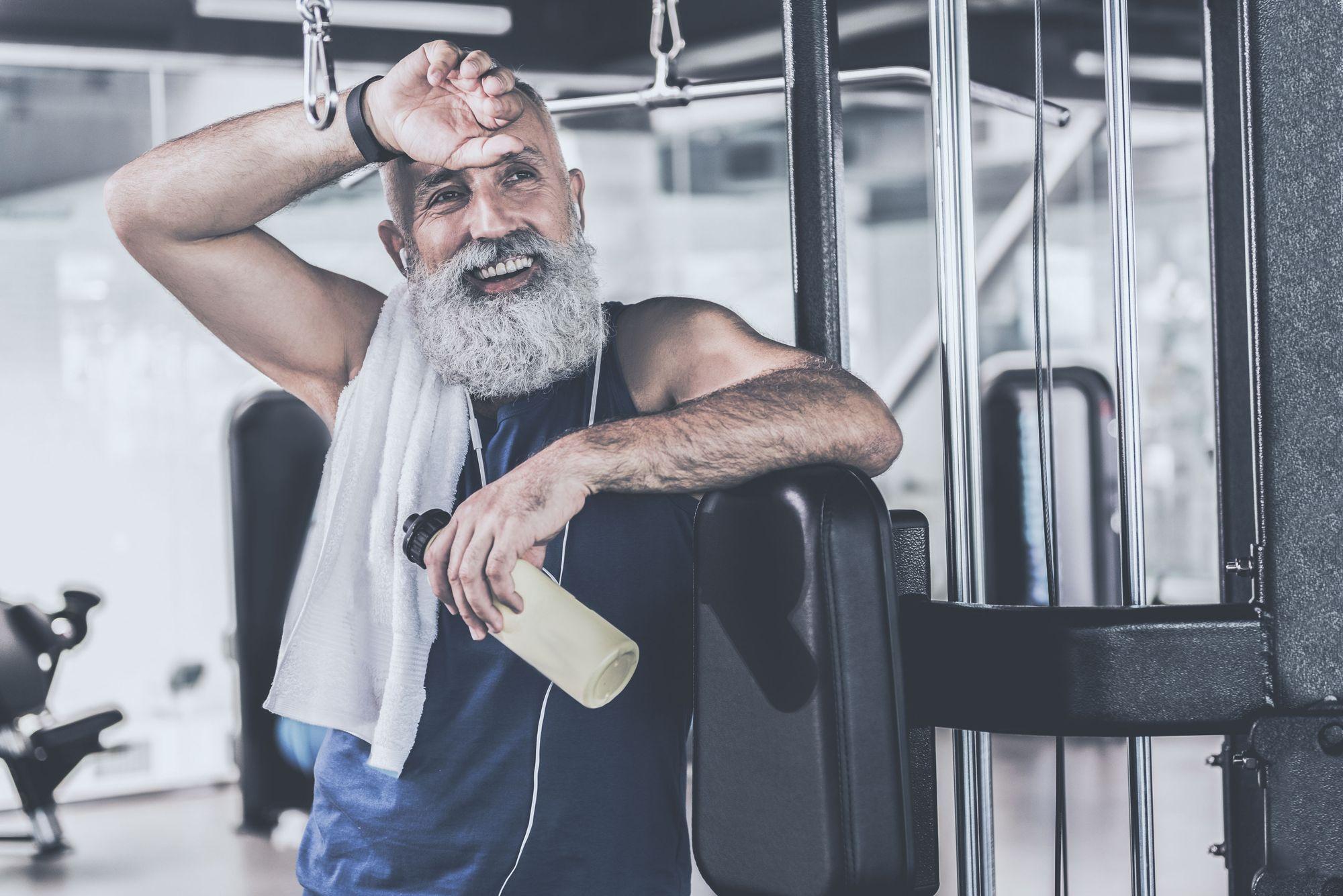 Older man in gym