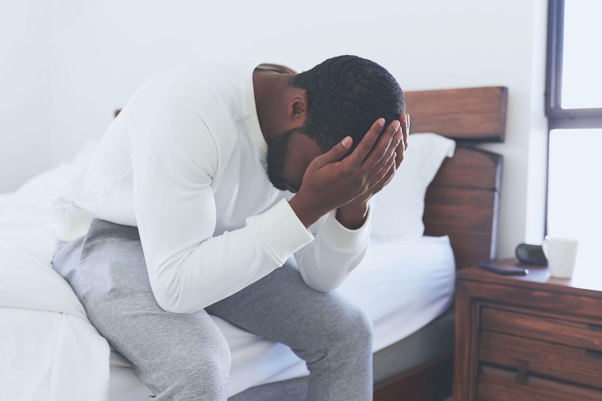 Man stressed